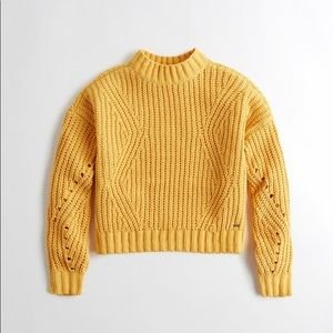 Yellow Hollister Sweater